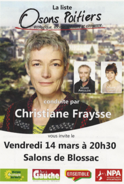 Meeting de fin de campagne municipale à Poitiers