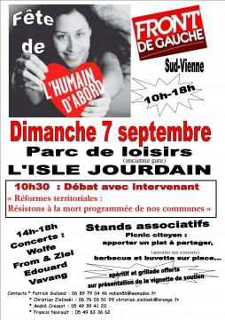 Fête départementale de l'humain d'abord @ Parc de Loisirs | L'Isle-Jourdain | Midi-Pyrénées | France