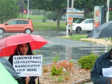 Rassemblement contre l'agression israélienne