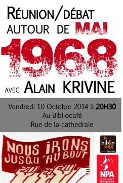 Alain Krivine à Poitiers (mai 68) @ Biblio café   Poitiers   Poitou-Charentes   France