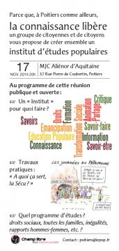 Institut d'Études POPulaires à Poitiers (I.E.Pop)