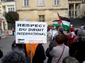 Commémoration de la journée de la terre en Palestine à Châtellerault et Poitiers