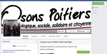 """""""Osons Poitiers"""" est sur facebook !"""