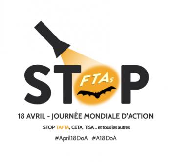 Mobilisation Stop TAFTA à Poitiers @ Place du Marché à Poitiers
