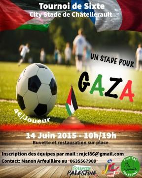 """""""Un stade pour Gaza"""" à Châtellerault @ Châtellerault"""