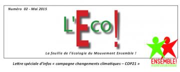 L'Éco - la feuille de l'écologie d'Ensemble!