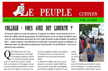 "Sortie du ""Peuple citoyen"" n°44"