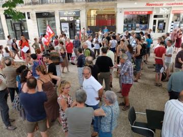 Photos du rassemblement de solidarité avec le peuple grec