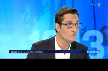 Olivier Dartigolles sur France 3 Poitou Charentes