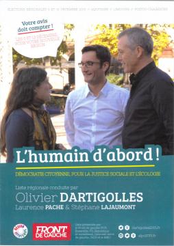 Le programme du Front de Gauche pour ces élections régionales