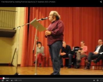 Fred Abrachkov au meeting du Front de Gauche