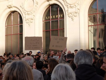 Rassemblement à Poitiers le 14 novembre 2015 après les attentats à Paris