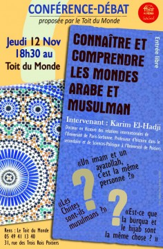 Connaître et comprendre les mondes arabe et musulman @ Toit du monde | Poitiers | Poitou-Charentes | France