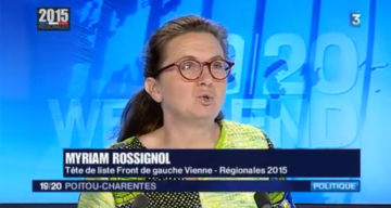 Notre tête de liste pour la Vienne aux Régionales : Myriam Rossignol