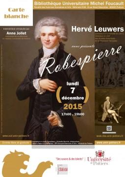 Conférence sur Robespierre @ Hôtel Fumé | Poitiers | Poitou-Charentes | France