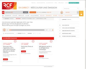 Régionales 2015, avec Yves Jamain (Front de Gauche) et Léonore Moncond'huy (EELV)