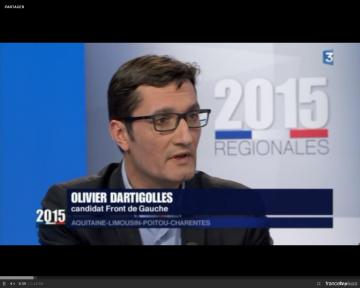 Débat France 3 avec notamment notre candidat O. Dartigolles