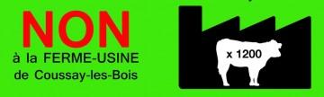 Tract de la mobilisation contre la ferme usine à Coussay les Bois (86)