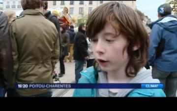 Manifestation interdite pour le climat à Poitiers