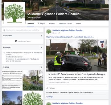 Une page facebook pour le comité de Beaulieu