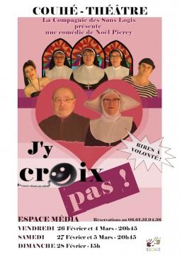 """A Couhé, la pièce de théâtre  """"J'y croiX pas"""" menacée par des intégristes catholiques"""