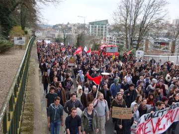 Manifestation contre la loi travail, le 28 avril à Poitiers