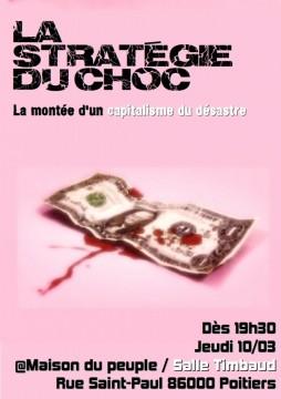 La Stratégie du choc : La montée d'un capitalisme du désastre @ Salle Timbaud de la Maison du Peuple | Poitiers | Poitou-Charentes | France