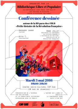 """A Cap sud, Poitiers, 3 mai 19 h, """"Autour de la Petite histoire de la Révolution française"""""""