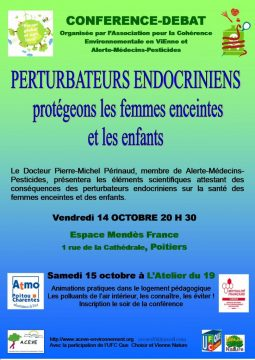 Perturbateurs endocriniens, protégeons les femmes enceintes et les enfants @ Espace Mendès France | Poitiers | Aquitaine-Limousin-Poitou-Charentes | France