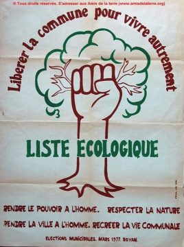 Histoire de l'écologie politique @ 44 Place Charles VII | Poitiers | Aquitaine-Limousin-Poitou-Charentes | France