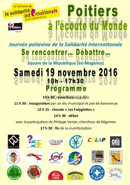 Journée poitevine de la Solidarité Internationale @ Square de la République (ex-Magenta) | Poitiers | Aquitaine-Limousin-Poitou-Charentes | France