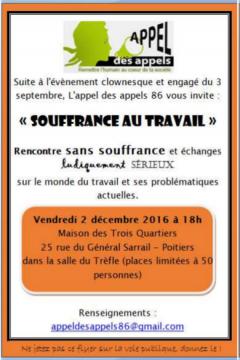 Appel des appels : souffrance au travail @ M3Q | Poitiers | Aquitaine-Limousin-Poitou-Charentes | France