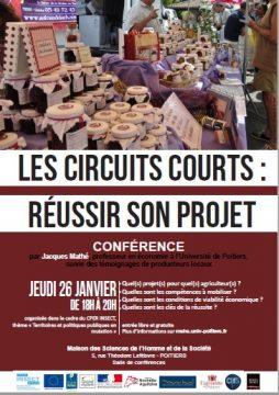 Les circuits courts - approches économique et territoriale @ Maison des Sciences de l'Homme et de la Société de Poitiers - Bâtiment A5 | Poitiers | Nouvelle-Aquitaine | France