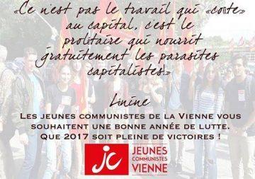 Banquet de voeux de Jeunesses communistes de la Vienne