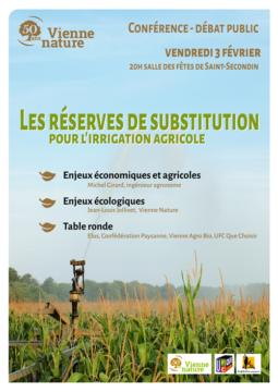 Les réserves de substitution pour l'irrigation agricole @ salle des fêtes   Saint-Secondin   Nouvelle-Aquitaine   France