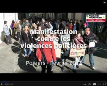 Vidéo de la manifestation de Poitiers contre les violences policières
