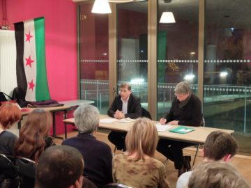 Réunion publique à Poitiers de solidarité politique avec le peuple syrien, avec Zaïd Alkintar
