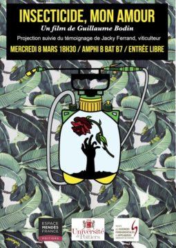 Insecticide, mon amour @ Amphi B bat B27, campus de l'Université de Poitiers | Poitiers | Nouvelle-Aquitaine | France