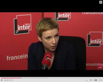 Clémentine Autain sur France Inter, soutien de J.L. Mélenchon