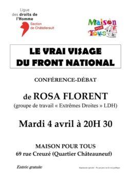 Le vrai visage du Front National @ Maison pour tous | Châtellerault | Nouvelle-Aquitaine | France