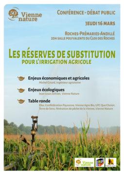 Les réserves de substitution pour l'irrigation agricole Pour quelle agriculture ? Avec quelle eau ? @ salle polyvalente du Clos des Roches | Roches-Prémarie-Andillé | Nouvelle-Aquitaine | France