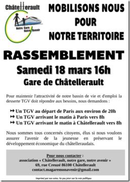 Rassemblement pour la gare de Châtellerault