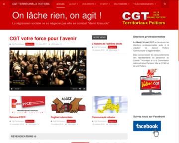 Nouveau site internet de la CGT Territoriaux de Poitiers