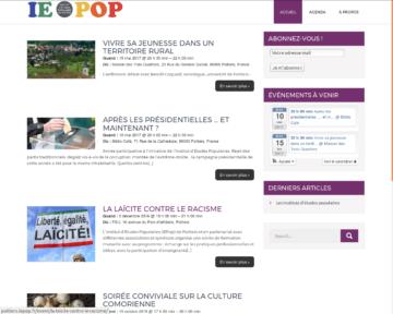 Un nouveau site internet sur la Vienne : l'IEPop