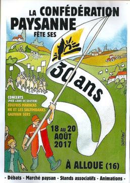 Du 18 au 20 août à Alloue, la Conf' fête ses 30 ans : débats, concerts... @ Alloue (16)