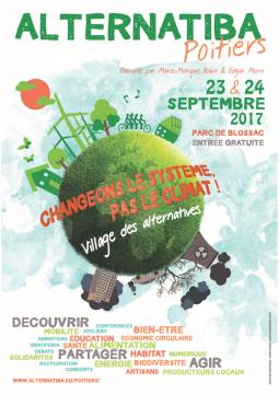 Sortie du programme de Alternatiba, les 23 et 24 sept au Parc de Blossac à Poitiers