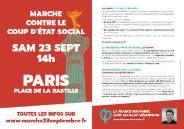 """Samedi, manifestation à Paris contre la loi Travail XXL de Macron avec la """"France insoumise"""""""