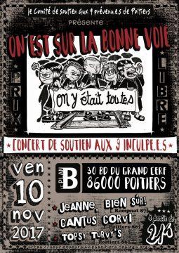 Concert de soutien aux 9 inculpé.e.s @ La plan B | Poitiers | Nouvelle-Aquitaine | France