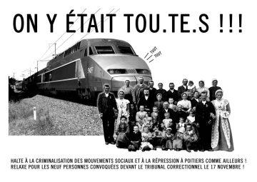 Rassemblement de soutien aux 9 inculpés @ Palais de justice Poitiers