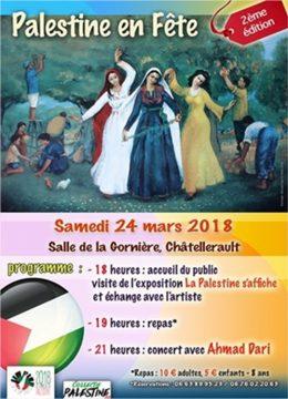 2ème édition de Palestine en Fête @  Salle de la Gornière | Châtellerault | Nouvelle-Aquitaine | France